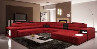 Red Sofas In Living Room Amazon Com Vig Furniture 5022 Polaris Red And Black Bonded