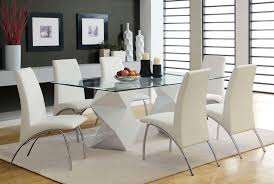 Glass Top Pedestal Dining Tables Adorable And Modern Dining Table Design With Rectangular Glass Top