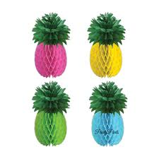 Paper Pineapple Decorations Pink Pineapple Centerpiece Luau Decorations 11 5 In Tissue
