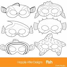 printable list farm animal mask templates halloween masks