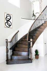 staircase wall decor wall decor for curved staircase modern interior design