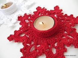 christmas crochet pattern tea light holder melting snowflake