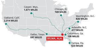 selma map thousands of are no big deal for these citizens traveling to
