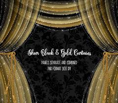 Black Gold Curtains Sheer Black And Gold Curtains Clipart