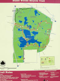 Chicago Bike Map The Busse Woods Bike Trail Busse Woods Forest Preserve Illinois