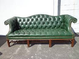 Chesterfield Tufted Leather Sofa Tufted Leather Camelback Sofa Chesterfield Sofa Green