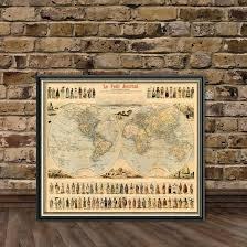 Decorative World Map Antique Illustrated World Map Decorative Old Map Of The World