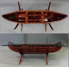 bob timberlake glass top coffee table bob timberlake carved wood canoe coffee table