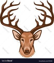 deer head deer head royalty free vector image vectorstock
