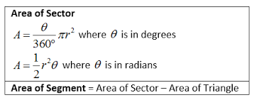 area of a sector and segment solutions examples worksheets videos