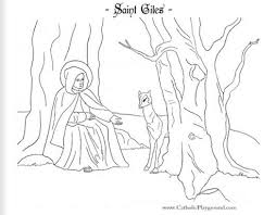 saint giles catholic coloring page patron the disabled feast day