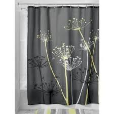Grey And Yellow Shower Curtains Interdesign Thistle Grey And Yellow Shower Curtain Bathroom