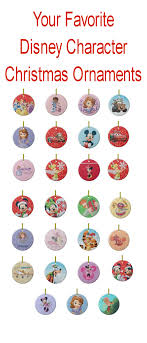 bwmedia designs disney characters tree ornaments