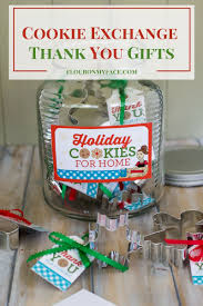 christmas cookie exchange thank you gift tags flour on my face