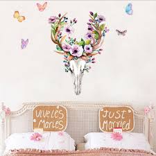 Bedroom Wall Decals For Adults Compare Prices On Deer Head Decal Online Shopping Buy Low Price