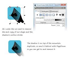 create long shadow icons for flat designs in inkscape dmg blog