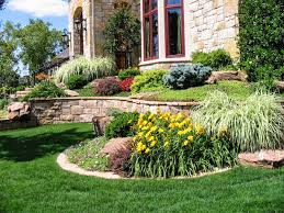 Landscape Ideas For Side Of House by Front Side Landscaping Modern House Design With Stone Raised