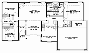 floor plans for a 4 bedroom house 4 bedroom house plans one house beautiful