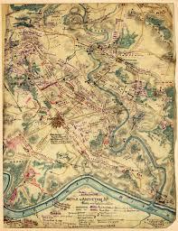 Battle Of Gettysburg Map Antique Map Battle Of Antietam 1862 Civil War