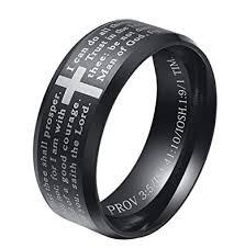 bible verse rings alextina 8mm men s stainless steel bible verse