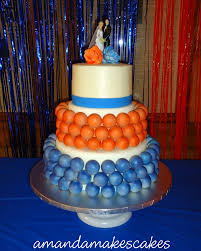 cake u2013 cake pop wedding cake blue u0026 orange u2013 amanda makes cakes