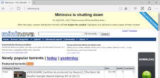 mininova torrent portal will be shutting on april 4th 2017