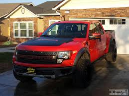 Pink Ford Raptor Truck - hood decal for the ford raptor svt oem style many colors