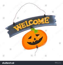 halloween welcome sign stock photo 17697823 shutterstock