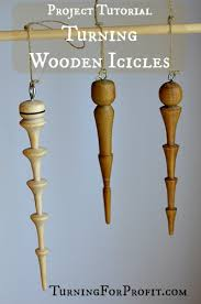 wooden icicles a turned ornament