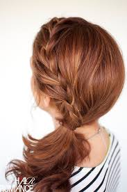 mature pony tail hairstyles side braid ponytail hairstyles