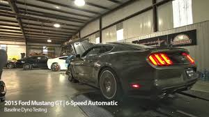 2015 mustang transmission 2015 ford mustang gt auto transmission baseline chassis dyno