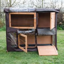 6 Rabbit Hutch 4ft Large Rabbit Hutch And Run With 2 Tiers Wooden Ferret Pet Cage