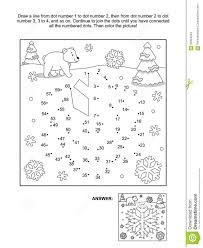 dot coloring pages dot to dot and coloring page snowflake stock vector image