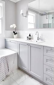 Bathroom Gorgeous Length Of Standard by Beautiful Gray And White Bathroom Is Fitted With A A Gray