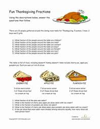 thanksgiving fractions fractions fractions worksheets and
