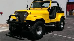 cj jeep yellow cj7