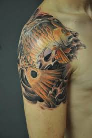 depiction tattoo gallery tattoos body part shoulder koi fish