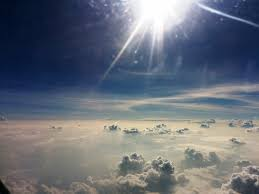 most beautiful sky with clouds and sun together