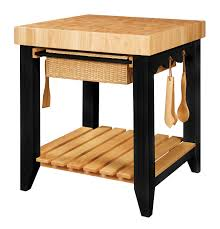 Kitchen Island Chopping Block Small Square Butcher Block Island With Black Base