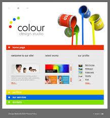 website template 18941 colour design studio custom website