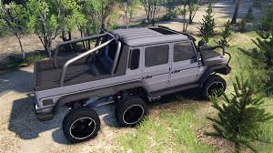mercedes pickup truck 6x6 benz g65 amg 6x6 ultimate for spin tires