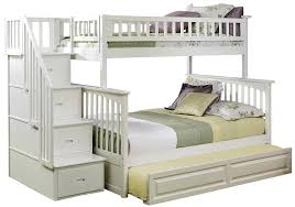 amazon com columbia staircase bunk bed with trundle bed twin