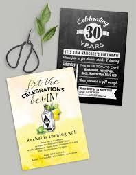 personalised milestone birthday invitations