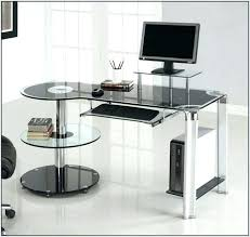 Glass Corner Computer Desks For Home Glass Corner Computer Desk Charming On Home Pictures With Clear