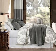 bedding asher organic duvet cover u0026 sham pottery barn bedroom