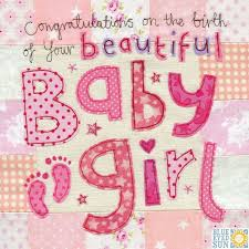 baby card congratulations on the birth of your beautiful baby girl card