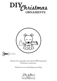 diy laminated ornaments destei dogs