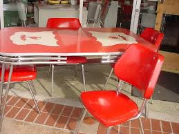 Best Vintage Dining Table Sets Images On Pinterest Vintage - Red kitchen table and chairs