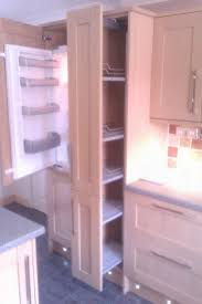 howdens intergrated fridge freezer and pull out larder unit