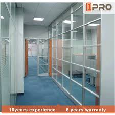 decorative partitions aluminium frame glass partition with glass